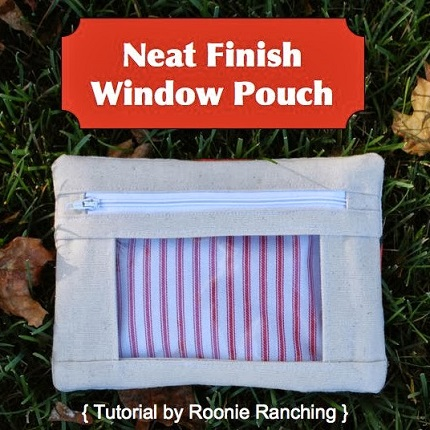Tutorial: Neat Finish Window Pouch with no raw edges