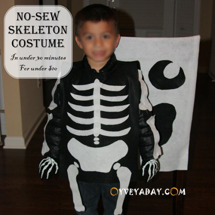 Tutorial: 30-minute skeleton costume, no sewing required