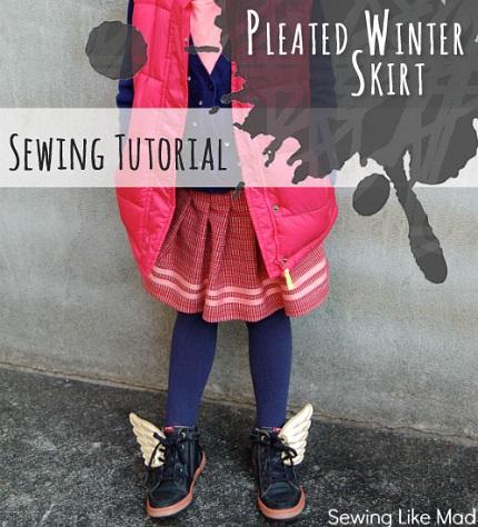 Tutorial: Little girl's pleated winter skirt