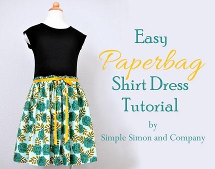 Tutorial: Easy Paperbag Shirt Dress