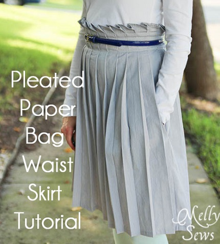 Tutorial: Pleated paper bag waist skirt