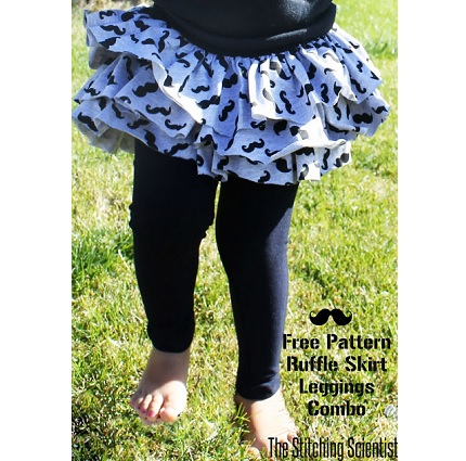 Free Pattern Little Girl Ruffled Skirt With Attached
