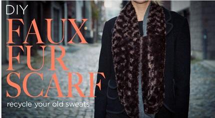 Tutorial: Faux fur scarf