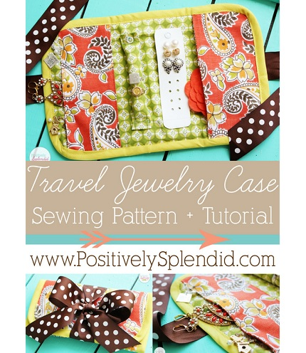 Tutorial Travel Jewelry Wallet Sewing