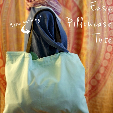 Tutorial: Easy peasy pillowcase tote bag