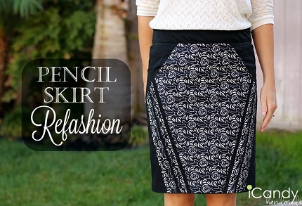 Tutorial: Hourglass pencil skirt refashion