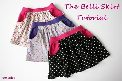 Tutorial Scoop Pocket Skirt For Little Girls Sewing