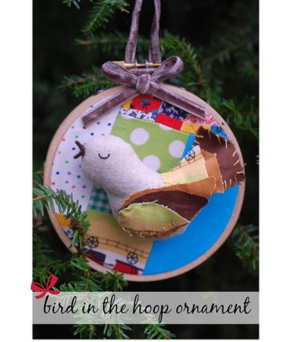 Tutorial: Bird in the Hoop Christmas ornament