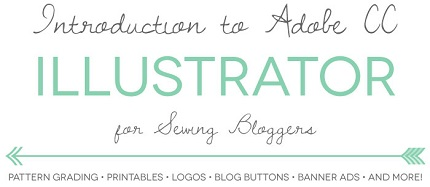 Video tutorial: Intro to Illustrator for sewing bloggers