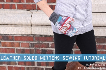 Tutorial: Leather soled mittens