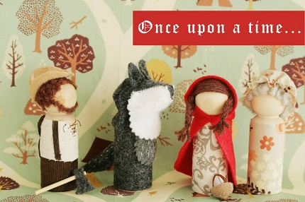 Tutorial: Waldorf-inspired Little Red Riding Hood playset