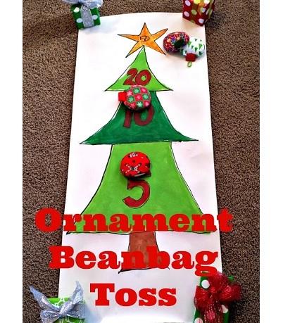 Tutorial: Christmas ornament bean bag toss game