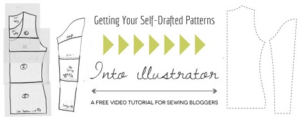 Video tutorial: Bringing your self-drafted sewing patterns into Illustrator