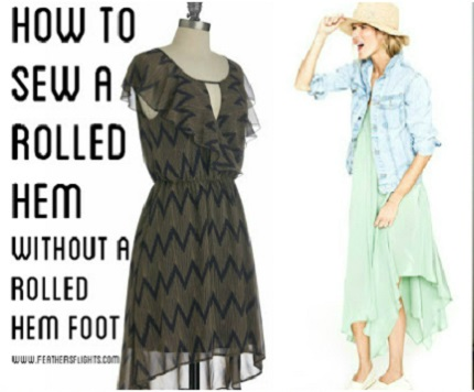Tutorial: Rolled hem on a sewing machine