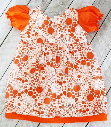 Free Pattern Puff Sleeve Dress For Toddler Girls Sewing