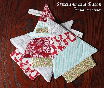 Tutorial: Christmas tree trivet or hot pad