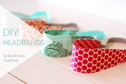 Tutorial: 30-minute fabric headband for a child
