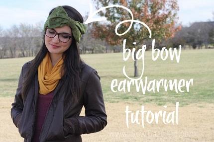 Tutorial: Big Bow Ear Warmer