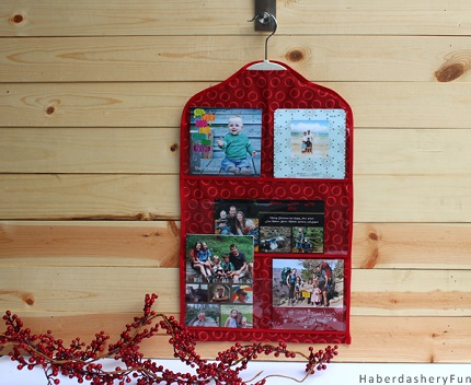 Tutorial Hanging Christmas Card Organizer Sewing