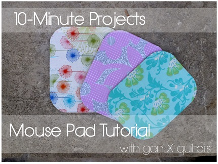 Tutorial: Make a mouse pad in your favorite fabric