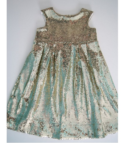 Tutorial: Gold sequined sparkle dress for girls