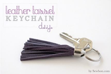 Tutorial: Leather tassel keychain