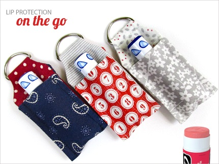 Free pattern: Lip balm key ring case