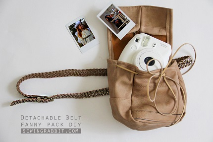 Tutorial: Detachable belt fanny pack made from an old purse