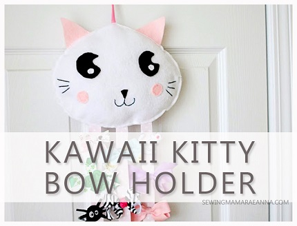 Tutorial: Felt Kawaii Kitty Bow Holder