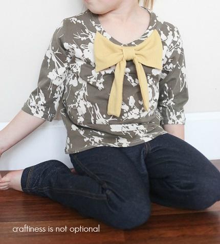 Tutorial: Big knit t-shirt bow