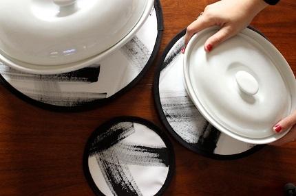Tutorial: Modern art brushstroke hot pads