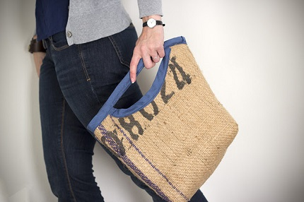 Tutorial: Upcycled burlap bag
