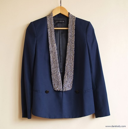Tutorial: Chain embellished blazer