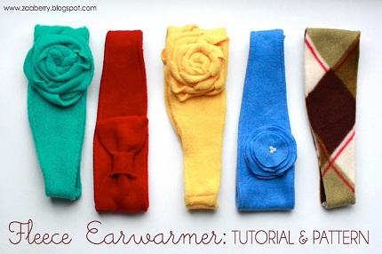 Free pattern: Fleece ear warmer headband