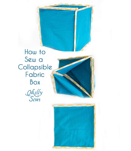Tutorial: Collapsible fabric storage boxes