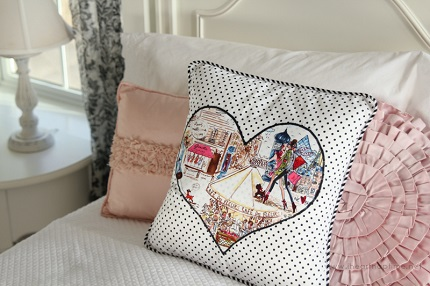 Tutorial piped heart applique throw pillow u sewing