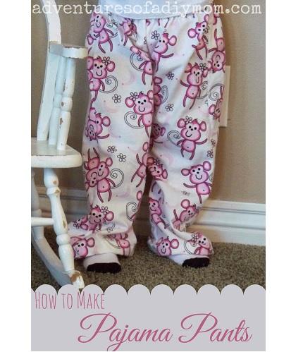 Tutorial: Make a pair of kid's pajama pants