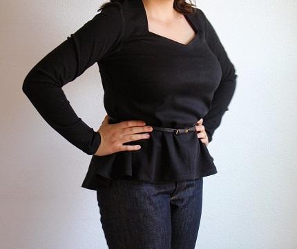 Tutorial: Faux peplum blouse variation