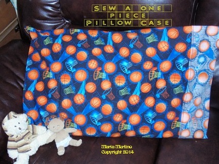 Tutorial: Sew a pillowcase from one piece of fabric