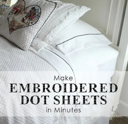 Tutorial: Easy embroidered edge bed sheets – Sewing