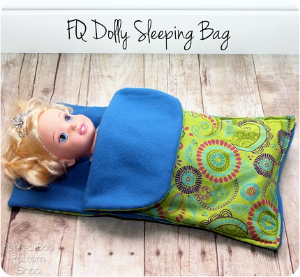 Tutorial: Fat quarter dolly sleeping bag