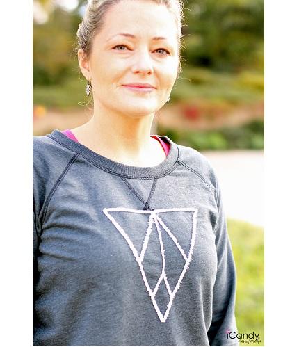 Tutorial: Frayed edge applique sweatshirt