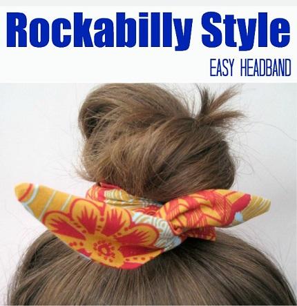Tutorial: Rockabilly headband