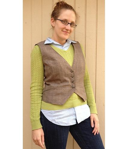 Tutorial: Refashion a blazer to make a vest