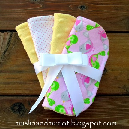 Tutorial: Minky and flannel mini burp cloths
