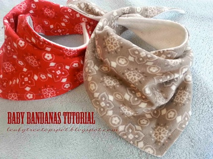 Tutorial: Baby bandana dribble bibs