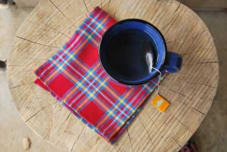 Tutorial: Flannel napkins with mitered corner hem