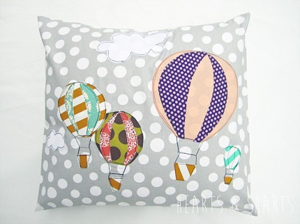 Pillow Applique Patterns: Tutorial  Hot air balloon applique pillow – Sewing,