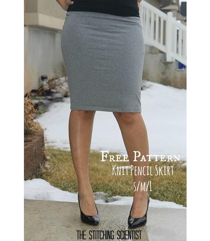 Free pattern: Sexy knit pencil skirt