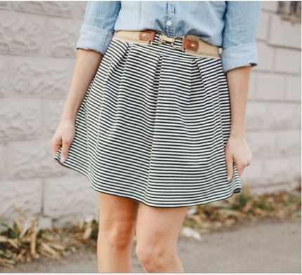 Tutorial: Pleated knit skirt